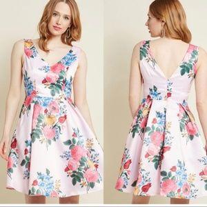 ModCloth Ladylike Luxury Fit& Flare Dress